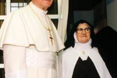 Juan Pablo II y la hermana Lucía